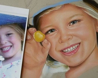 Custom portrait painting from Photo Portrait Kids from Photo Custom Painting from photo Original gift / present