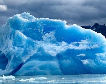 Iceberg matted fine art archival print