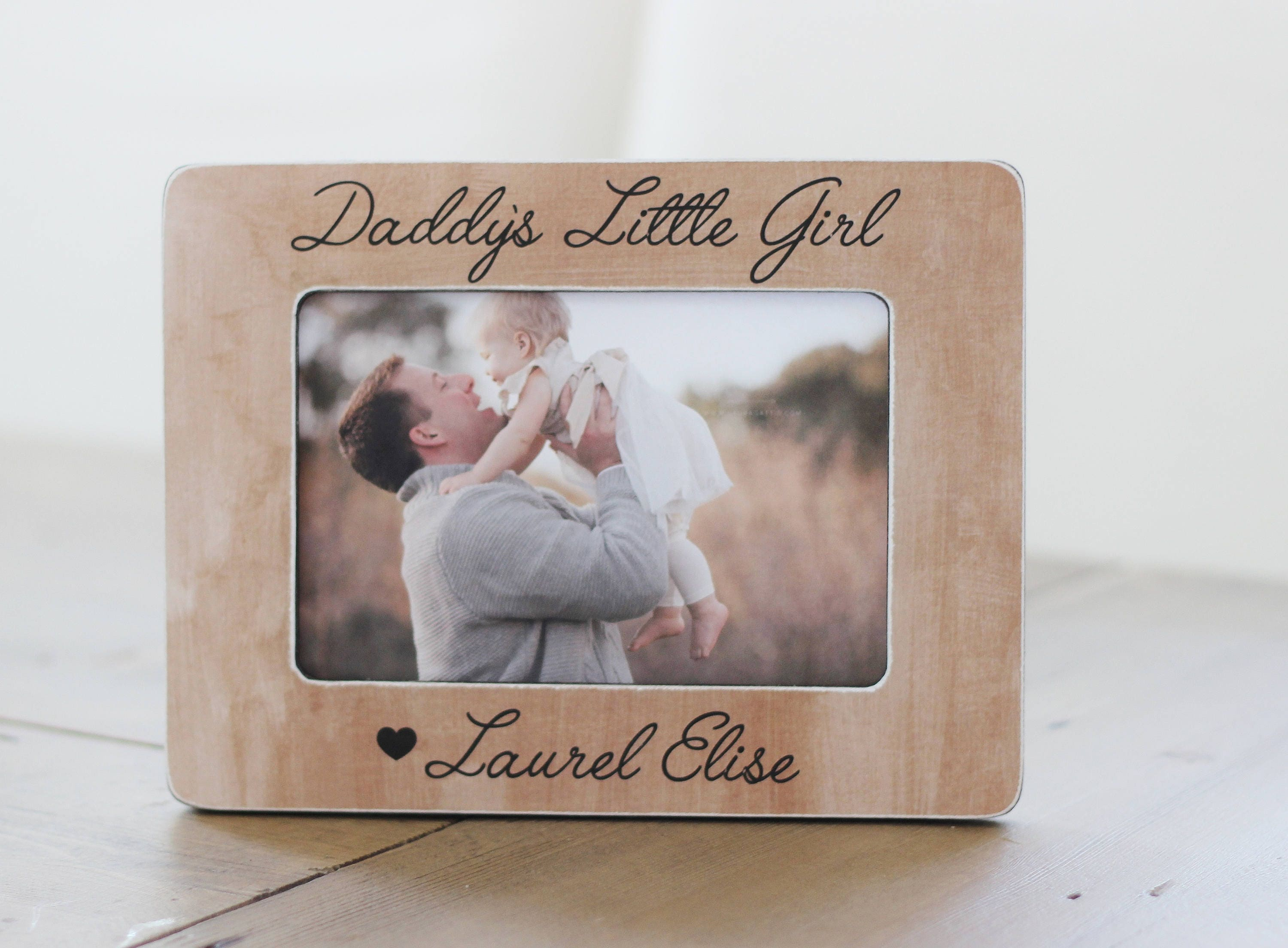 Dad Gift Personalized Picture Frame Father Daughter