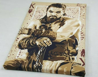 Game of thrones, khal Drogo A4 Size Canvas