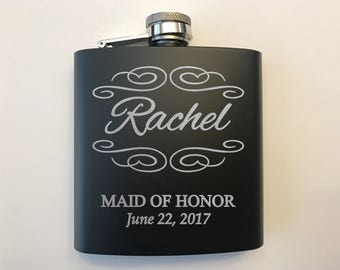 Personalized Bridal Party Flasks - Women Flasks -  Bridesmaid Gift Ideas - Bridesmaids Gifts - Bridal Party Gifts - Wedding Party Gifts
