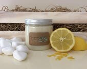 Invigorating Lemongrass Body Butter, all natural, Greek products, homemade