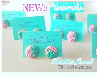 NEW!!! UNICONCHA pan dulce stud earrings
