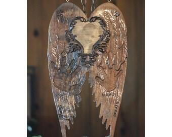 Custom Large Memorial Angel Wings
