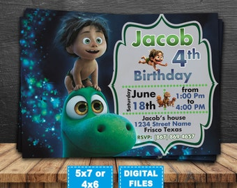 The good dinosaur invitation, good dinosaur birthday invitations, good dinosaur birthday party,good dinosaur printable,good dinosaur digital