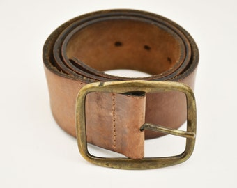 Brown leather belt LEVI's vintage leather belt unisex