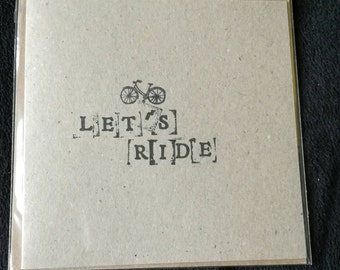 Let's ride Card