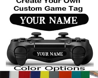 Playstation 4 Ps4 Controller Personalized Custom Game Tag Text Light Bar Decal Sticker