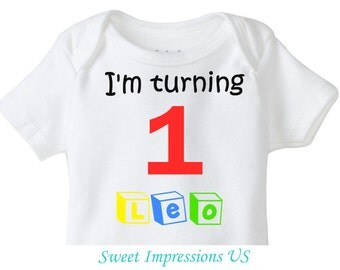 Blocks Personalized Birthday Boy Toddler Infant T-Shirt or Decal