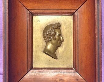 Antique bronze plaque by Bertand Benezech 1832 of noted French doctor