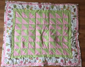 Pink & Green Animal Quilt