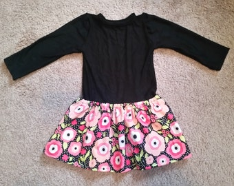 12-18 mo. Black and Pink Floral Dress