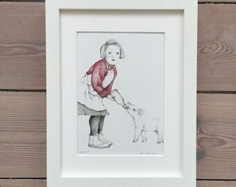Two friends-original pencil drawing