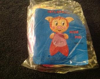 Vintage inflatable miss pig