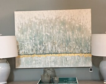 Gold Leaf Textured Painting - FREE SHIPPING!