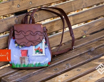 Colorful Hand Painted BACKPACK by Irina MADAN