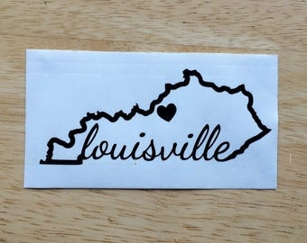 Louisville Spirit State Vinyl Decal