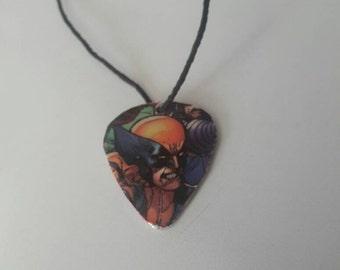 Wolverine Guitar Pick Necklace