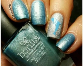 Dolphin Nail Decal