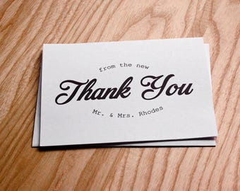 Wedding Thank You Cards • New Mr. And Mrs. [Set of 10]
