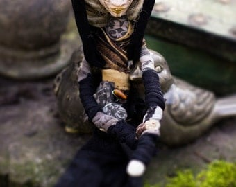 Wiccan Art Doll Holy Hands Tribal Earth Witch