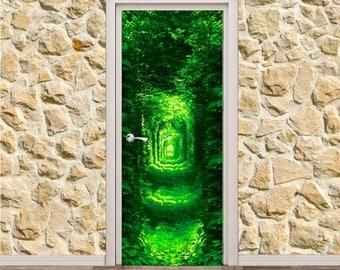 "Green Tunnel Door Poster/Sticker (30"" x 79"" | 77 x 200 cm)"