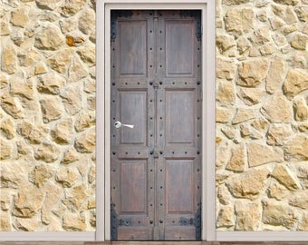 "Ancient Medieval Door Poster/Sticker (30"" x 79"" 