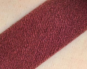 Scarlett Letter - Metallic Red Loose Mineral Eye shadow 3g Jar Eyeshadow or Eyeliner Red High Shine Luster low Sparkle Vegan Makeup