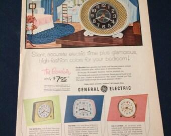 Vintage G E Clock Ad