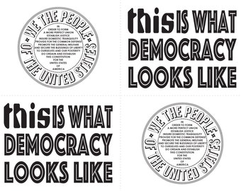 "PROTEST POSTCARDS- ""We The People"" & ""This is What democracy Looks Like"""
