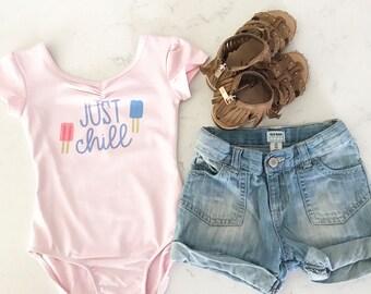Just chill/girls/leotards/pink/dance/summertop