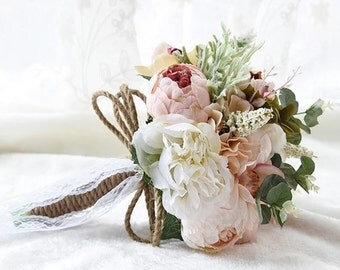 Bridal Bouquet, Blush Bouquet, Silk Flower Bouquet, Wedding Bouquet, Ready to use wedding bouquet