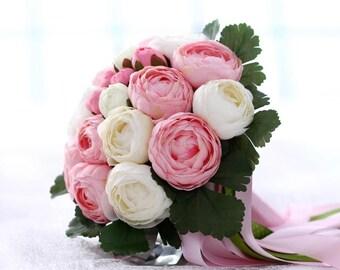Bridal Bouquet, Peonies Bouquet, Wedding Bouquet, Pink Bouquet