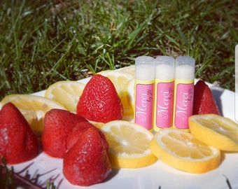 All Natural Strawberry Lemonade Lip Balm~Merci by JG