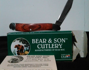 Vintage new in box bear and son pocket knife