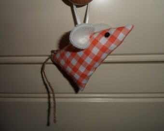 Handmade Hanging mice filled with a small amount of lavender