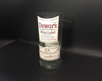 1 Liter vs 750ML Dewar's Scotch White Label Whiskey Soy Candle. Made To Order !!!!!!!