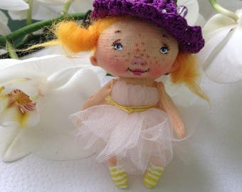 brooch doll Textile doll Forest Fairy doll Art doll Magic doll Muñeca textil rag doll cloth dolly textile baby doll