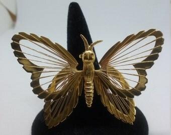 Vintage Monet Butterfly Brooch