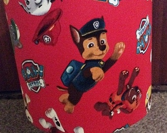 Handmade PAW Patrol Fabric Lampshade for Children's Bedroom Various Sizes Ceiling or Table