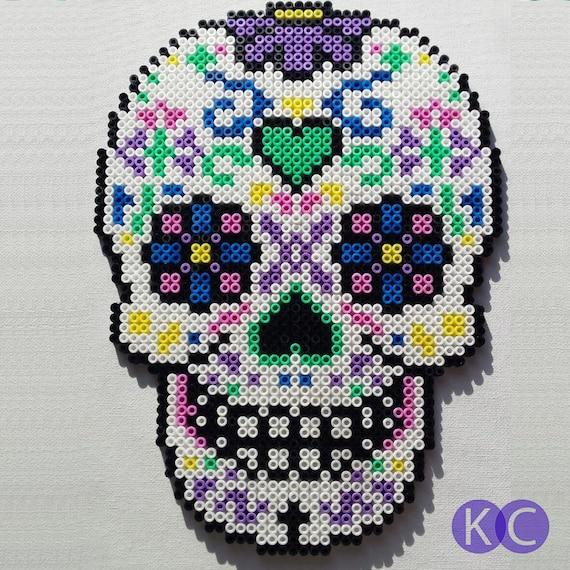 Sugar Skull Bead Art Sugar Skull Beads Perler Beads