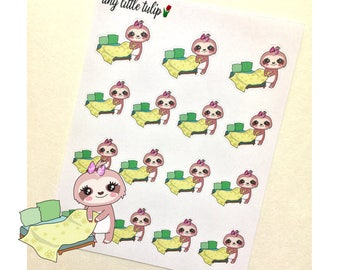 Planner Stickers Sloth Change The Sheets