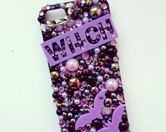 Lilac Witch Gothic Decoden Phone Case
