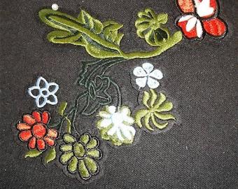 Iron On Flower Patch Applique #6C0952C
