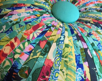 Tuffet Pillow made with Amy Butler fabric by Dalgleish Cloth Works