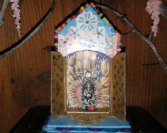 Ganesh Spirit House Matchbox Shrine Enchanted Reliquary