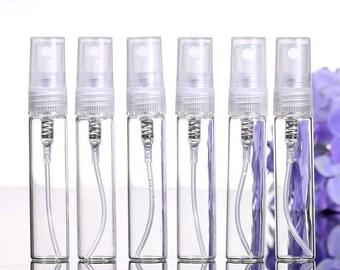5 Pcs Mini Glass Spray Bottle