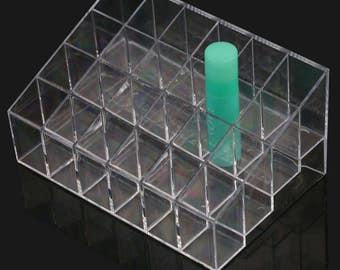 24 Holes Lipstick/Chapstick Display Rack