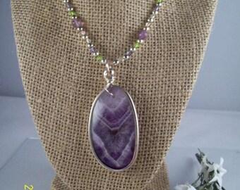 Women's Purple Stone Pendant Necklace