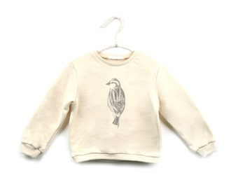 organic cotton sweatshirt with forest animals